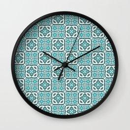 Moroccan Tile Geometric Mandala Wall Clock