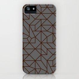 Masculine Geometric Patterns | Modern | Minimalist iPhone Case