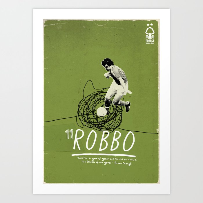 Nottingham Forest Legends Series: John Robertson Graphic Poster Art Print