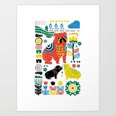 Scandinavian English Bulldog Art Print