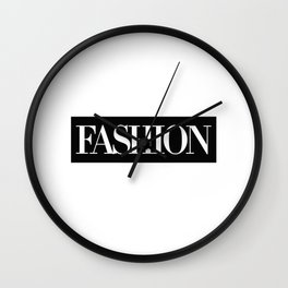 Fashion Logo Wall Clock