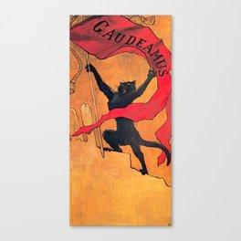 """Théophile Steinlen """"Gaudeamus"""" Canvas Print"""