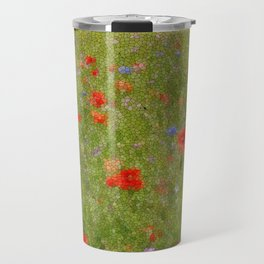 Field of Poppies (in mosaic) Travel Mug