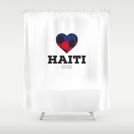 Haiti Soccer Shirt 2016 Shower Curtain