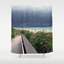 Stormy Sky, Aqua Sea Shower Curtain