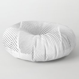 Folded Silver Floor Pillow