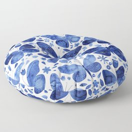 Blue Butterflies Floor Pillow