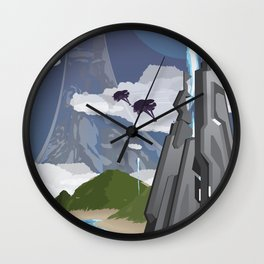 Installation 04 (Halo) Travel Poster Wall Clock