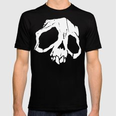 Ghoul Skull Black SMALL Mens Fitted Tee