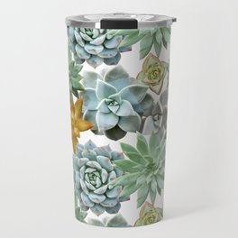 Succulent Pattern - Organic Botanics -  Nature Lover Succulent Mix for the Plant Lover Travel Mug
