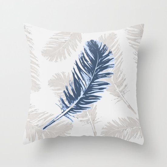 Throw Pillows With Feather Design : My lonely feather. Throw Pillow by Julia Grifol Designs Society6