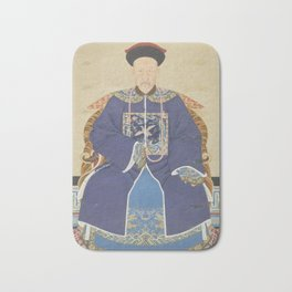 An Ancestor Portrait of an Official - Chinese, 19th century - Scroll painting - Mandarin Court Bath Mat