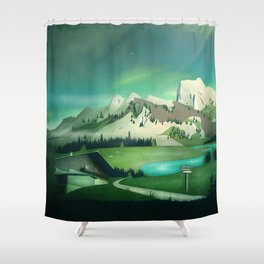 Alpine Enchantment Shower Curtain