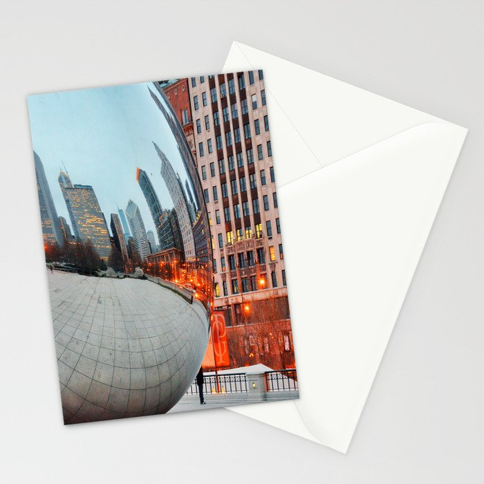 Chicago Bean - Big City Lights Stationery Cards