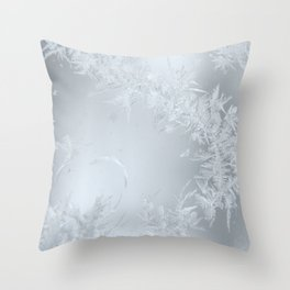 Soft Maine Frost Throw Pillow