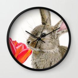 Smells Like Spring Wall Clock