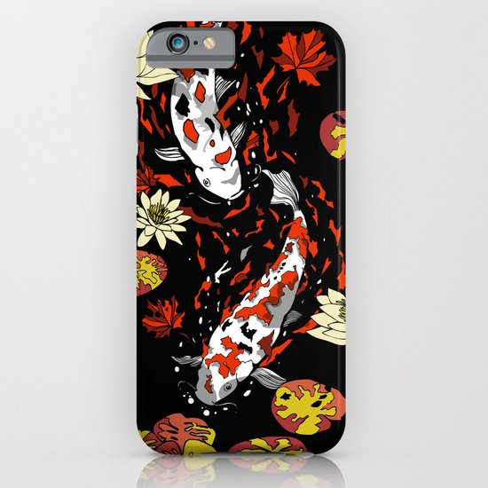 FALLING FISHES iPhone & iPod Case