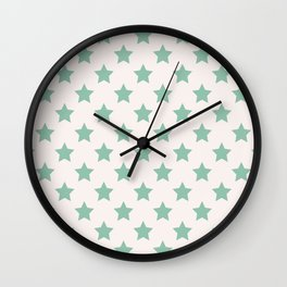 Mint Flavor Stars Wall Clock