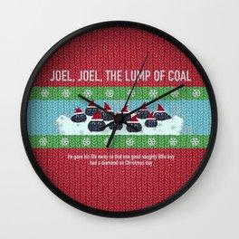 Lump of Coal / Christmas Sweater Wall Clock