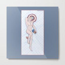 Steve Pinup Heroic Nude Metal Print
