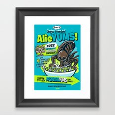 AlieYUMS! (blue variant) Framed Art Print