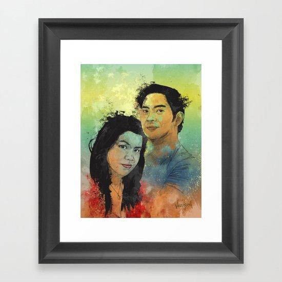 Gidget and Nino Framed Art Print