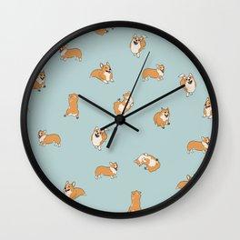 Corgi Print Wall Clock