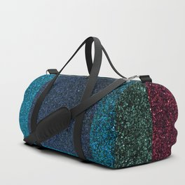Pink Green Glitter Square Pattern Duffle Bag