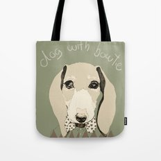 dog with bowtie Tote Bag