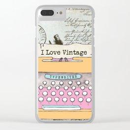 Typewriter #1 Clear iPhone Case