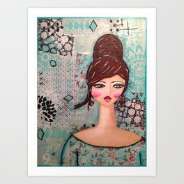 Sophisticated Girl Art Print