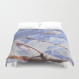 Dreamy Winter Mountain Scene Duvet Cover