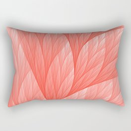 Reef Coral Living Color of the Year 2019 Abstract Pattern Fractal Fine Art Rectangular Pillow