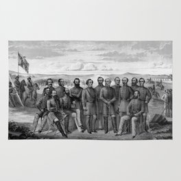 The Generals Of The Confederate Army Rug