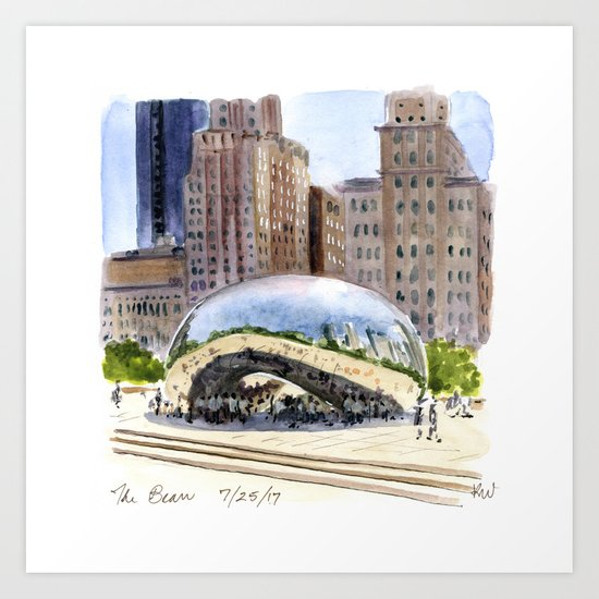 Cloud Gate - Chicago by ramblingsketcher