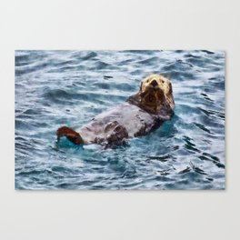 Happy Otter Canvas Print