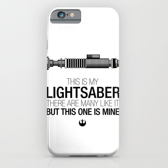 This is my Lightsaber (Luke Version) iPhone & iPod Case