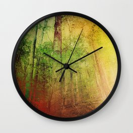 Eye of the forest Wall Clock