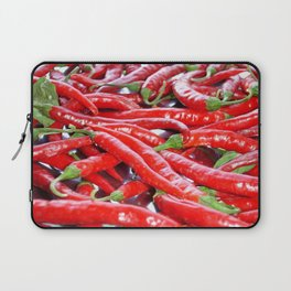 Market Fresh Red Chili Peppers Laptop Sleeve