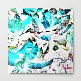 451 - Abstract leaves design Metal Print
