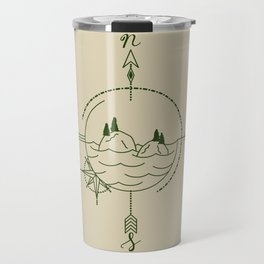 Finding Our Island - Beige Travel Mug
