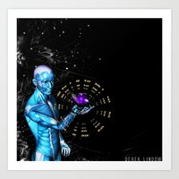 Before the stars leave and forget me Art Print