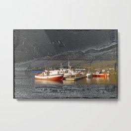 Iceland Dock art Metal Print