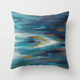 Moroccan Sea Spray Throw Pillow