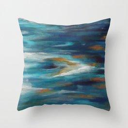 Moroccan Sea Spray Throw Pillow