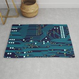Dark Circuit Board Rug