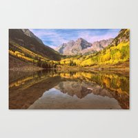 mountains Canvas Prints featuring mountains. Mirror Lake by 2sweet4words Designs