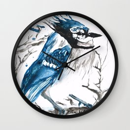 True Blue Jay Wall Clock