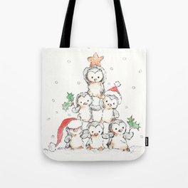 Oh Penguin Tree Tote Bag