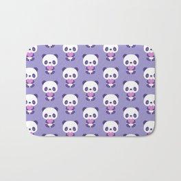 Cute purple baby pandas Bath Mat